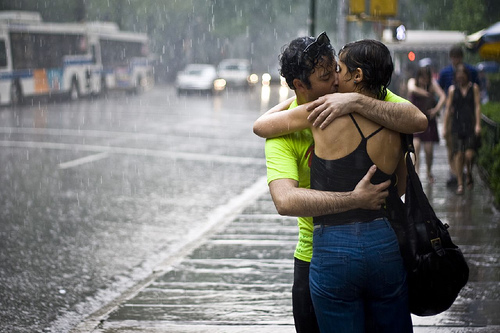 Kissing in the rain is one of the romantic gestures people think hardly ever works IRL.
