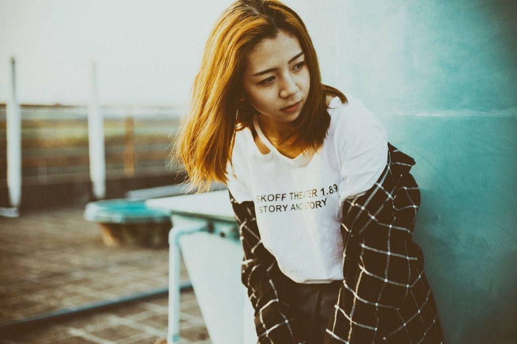 sad Asian girl Pixabay lost yourself